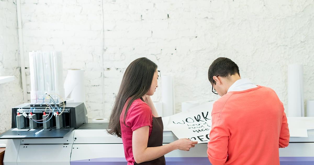 Banner print shop