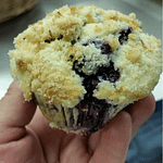 Blueberry streusel muffin.