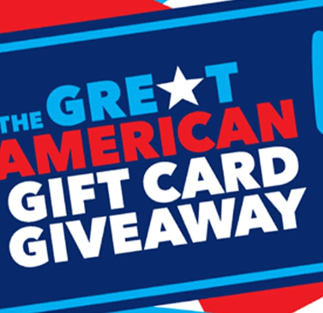 Graphic for great american gift card giveaway