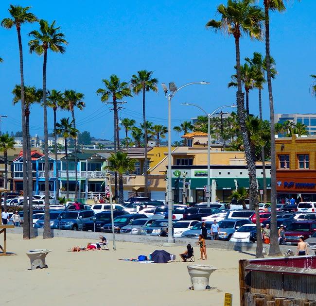 newport beach california by the pier