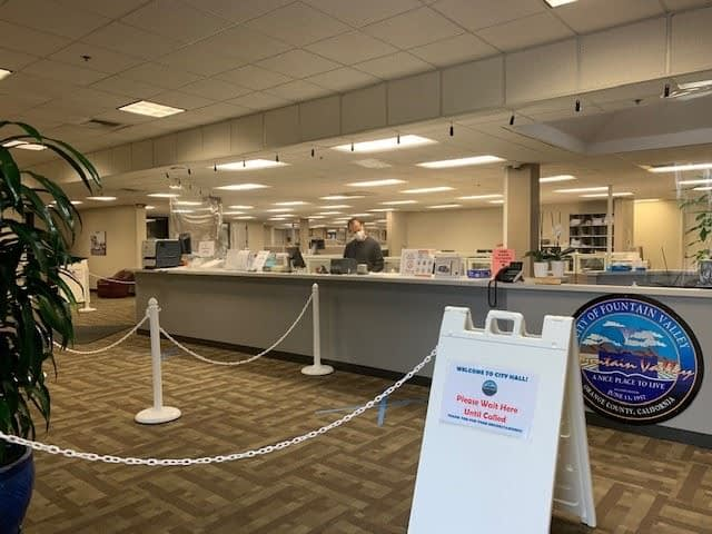 Fountain Valley, CA city hall reopens during covid-19