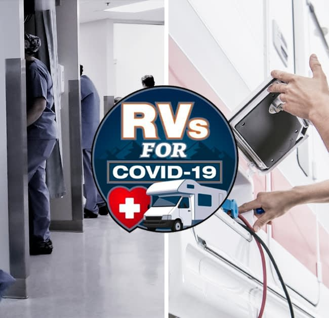RV's for Covid-19 releif worker in an RV park