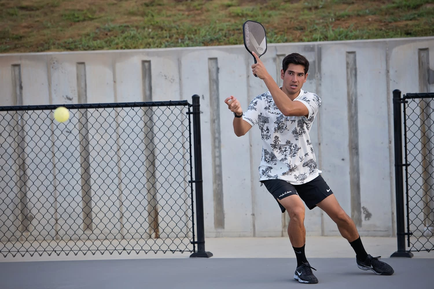 Tyler Loong on the Pickleball court.